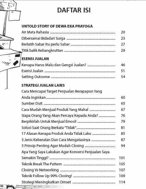 Daftar Isi Komik Jago Jualan
