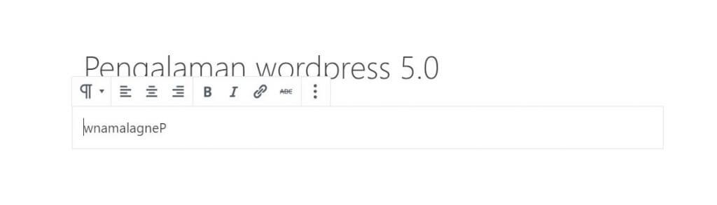 Pengalaman wordpress 5.0